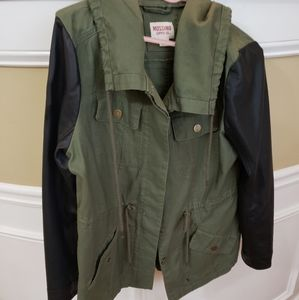 Green and Black Anorak Jacket